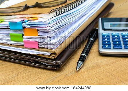 Stack Of Folders And Documents