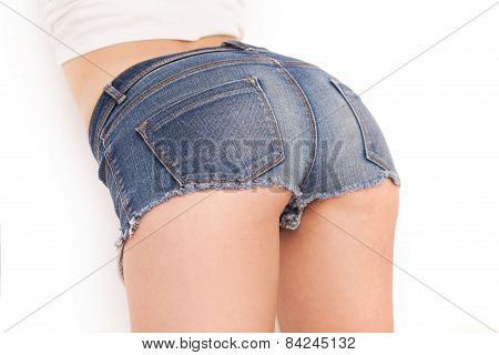 Jeans Shorts On Perfect Buttocks.