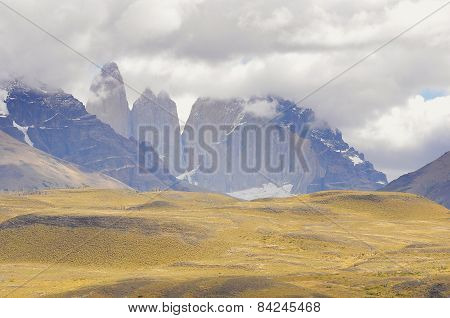 Torres mountains. Torres del Paine National park.