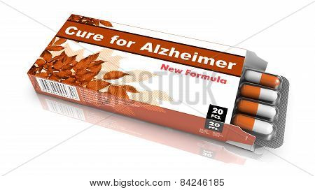 Cure for Alzheimer - Blister Pack of Pills.