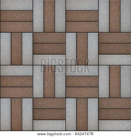 Pavement  Pattern in the Form of Broad Rectangles.