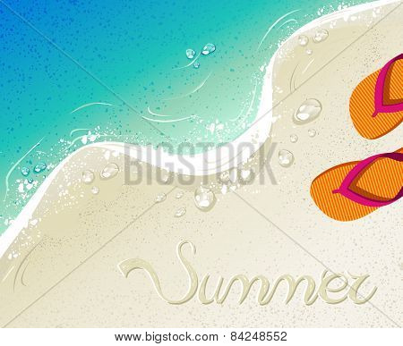 Flip Flops Summer Time Holiday Background