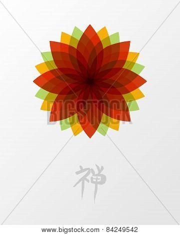 Zen Lotus Flower Concept Illustration