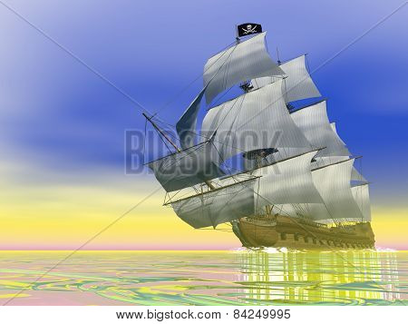 Pirate Ship - 3D render