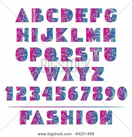 Elegant Floral Ornate Fashion Alphabet