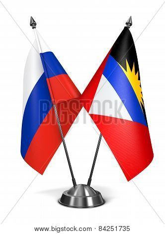 Russia, Antigua and Barbuda - Miniature Flags.