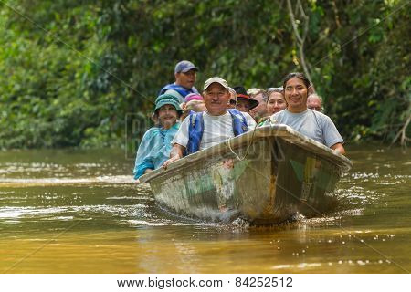 Cuyabeno Wildlife Reserve, Sucumbios Province, Ecuador, February 2015, European biologists