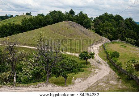Romanian Banat mountainous landscape