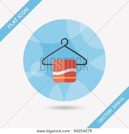 Towel Hanger Flat Icon With Long Shadow,eps10