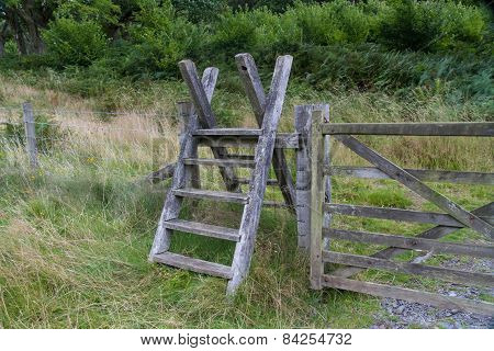 Latter Stile, Style, Steps Up And Over Fence