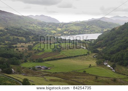 The Nant Gwynant Pass, Valley In Wales
