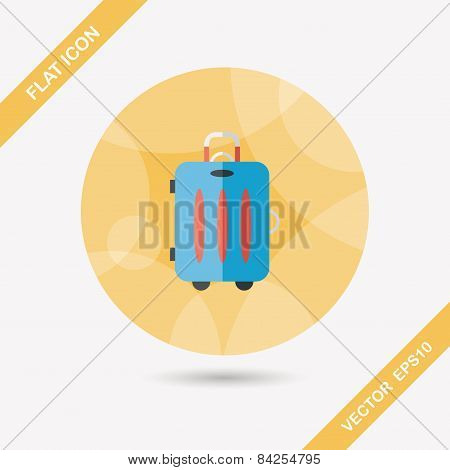 Vintage Travel Suitcases, Flat Icon With Long Shadow,eps10
