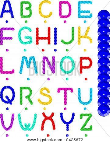 Sequin Alphabet