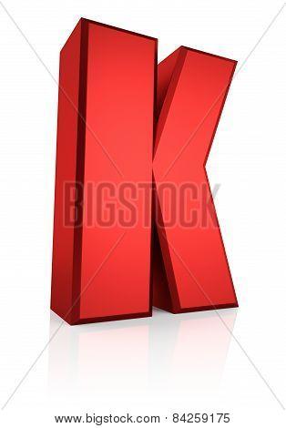 3D Letter K