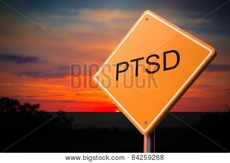 PTSD on Warning Road Sign