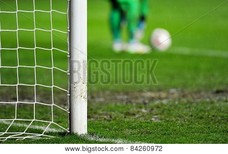 Goalkeeper Preparing For Goal Kick