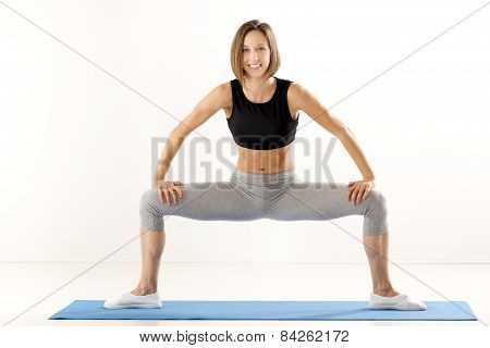 Pretty Young Woman Exercise