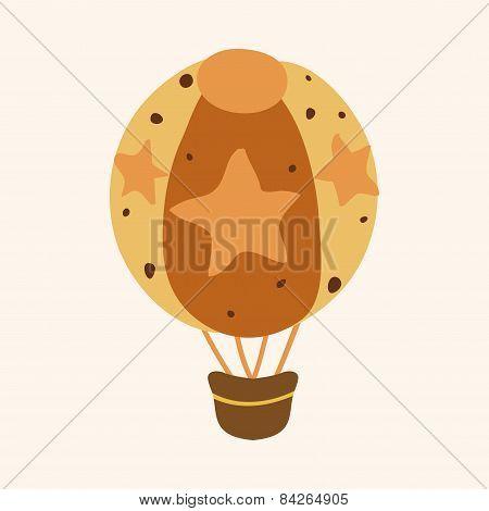 Hot Air Ballon Design Elements Vector