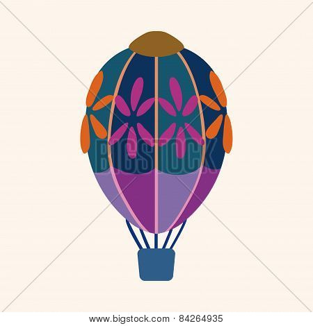 Hot Air Ballon Design Elements Vector