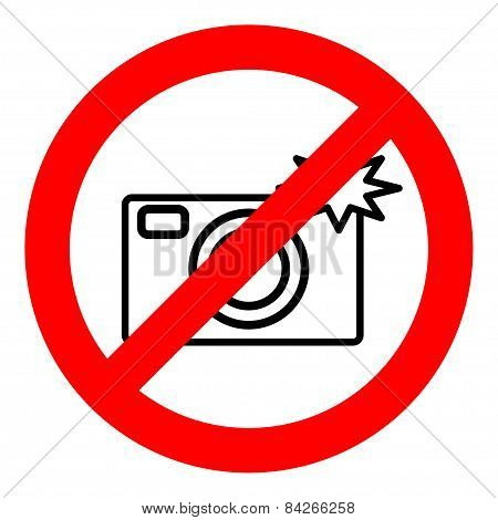 Sign prohibiting use of camera.