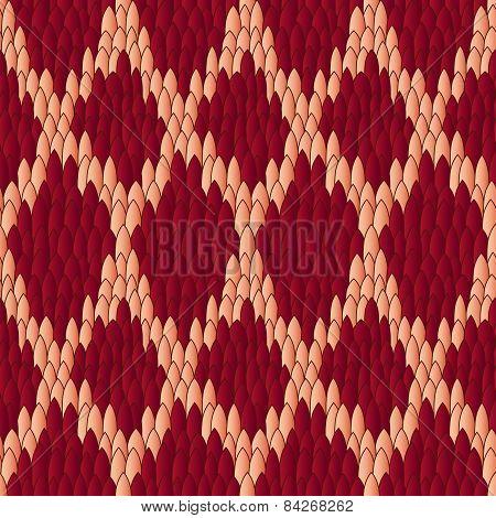 Viper Skin Red Seamless Pattern