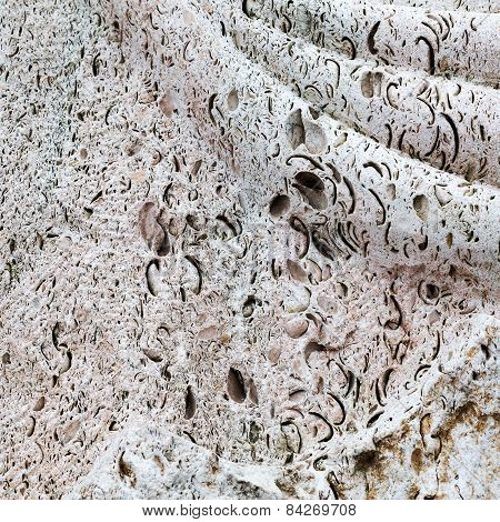 Abstract Decorative Porous Background Of Natural Stone Texture Background For Any Of Your Project