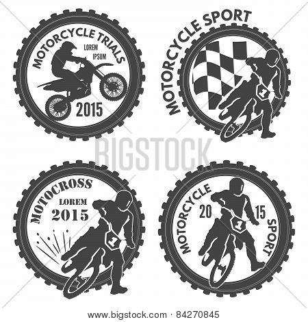 Motocycle Sports Labels