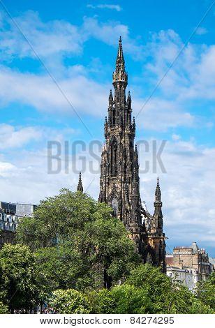 The Scott Monument in Edinburgh