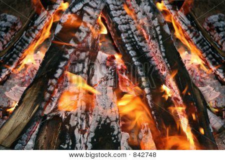 Campfire closeup