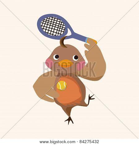 Sport Animal Chicken Cartoon Elements Vector