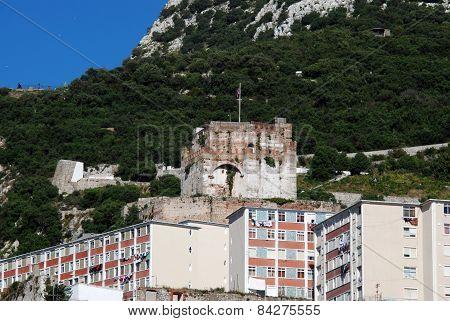 Moorish castle, Gibraltar.