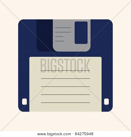 Computer Theme 3.5 Diskette Elements Vector