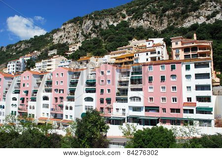 Apartment blocks, Gibraltar.
