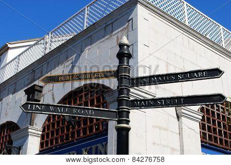 Street sign, Gibraltar.