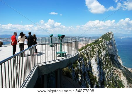 View platform and the rock of Gibraltar.