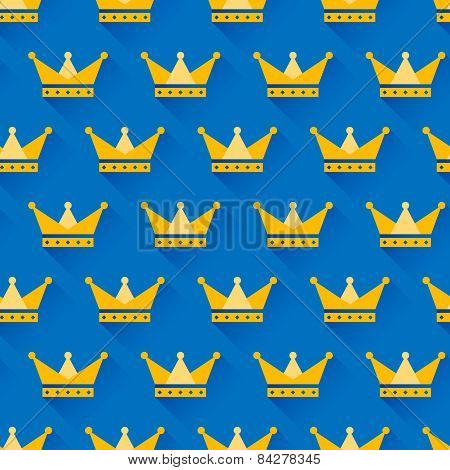 Vector crown seamless pattern