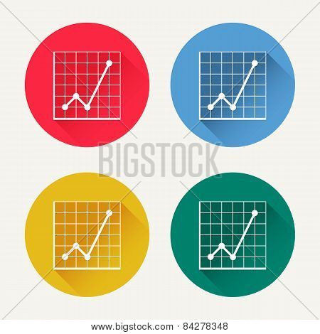 Vector diagram icon set