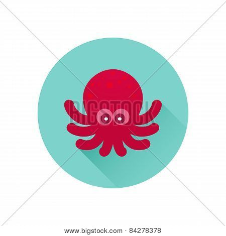 Vector octopus icon