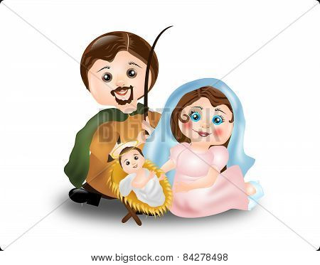 Virgin Mary, St. Joseph And Baby Jesus