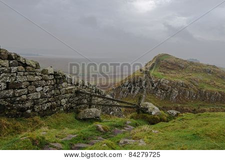 Low cloud over Hadrians Wall