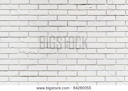 White Brickwork Wall Pattern Texture