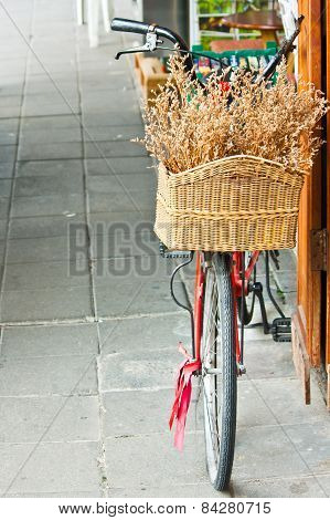 Red Bicycle With Basket