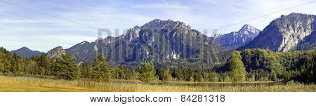Panorama Of The Bavarian Alps.