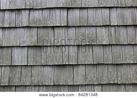 Background, Pano, Wooden Shingles.  F - 00007.