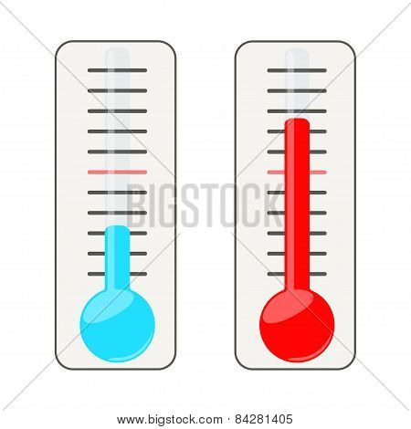 Two thermometers.
