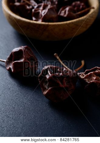 Dried Pears On A Dark Background