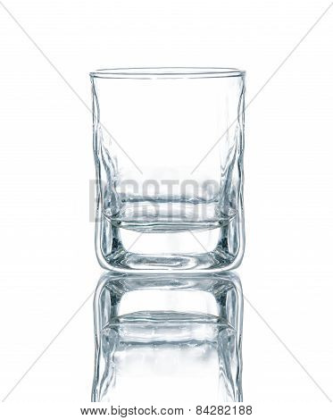 Empty vodka or whisky glass