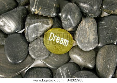 DREAM Encouragement Stone In Center