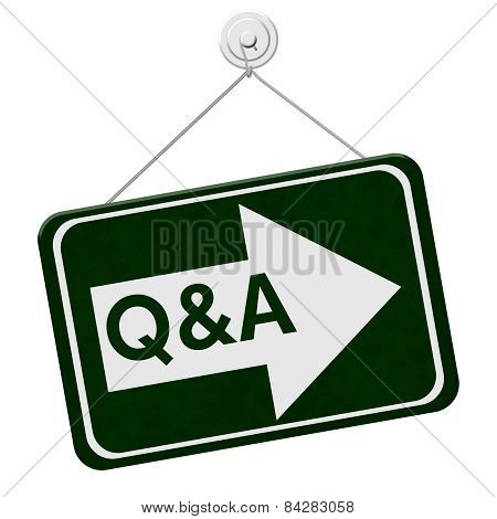 Q&a This Way Sign