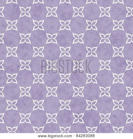 Purple And White Flower Symbol Tile Pattern Repeat Background